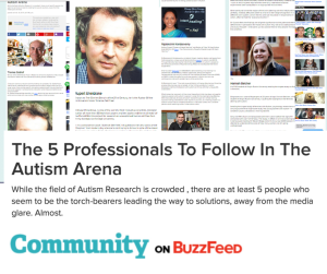 The 5 Professionals To Follow In The Autism Arena : Buzzfeed Autism Trends